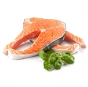 Picture of Salmon steaks, fresh, butterfly cut, size 150 gr.